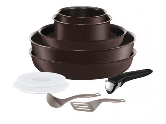 Набор посуды Tefal Ingenio Chef L6559802 10 предметов (2100096879) набор посуды со съемной ручкой tefal ingenio chefs l 6559702