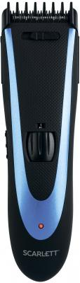 Машинка для стрижки Scarlett SC-HC63C59 черный/синий 8Вт (насадок в компл:4шт) машинка для стрижки scarlett sc hc63c59 черный синий 8вт насадок в компл 4шт