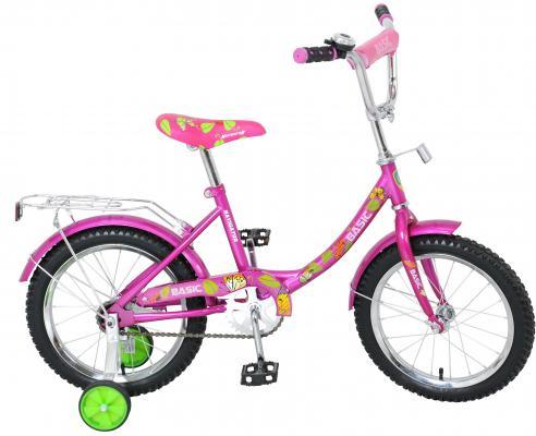 Велосипед 16 Навигатор Basic,багажн,защита на руле и выносе,звонок,мягк.седло,рама12B,роз. BH16071H велосипед детский navigator том и джерри цвет желтый 16 вн16114