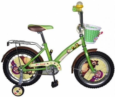 Велосипед Navigator Маша и Медведь 16 зеленый ВН16115 велосипед geuther велосипед my runner серо зеленый