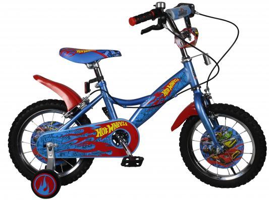 Велосипед Navigator Hot Wheels голубой-красный ВН14153Н navigator велосипед двухколесный hot wheels