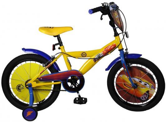 Велосипед Disney Тачки желто-синий ВН18088