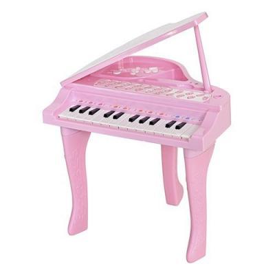 Купить Интерактивная игрушка Everflo Рояль от 6 месяцев розовый HS0356828, пластик, для девочки, Игрушки со звуком