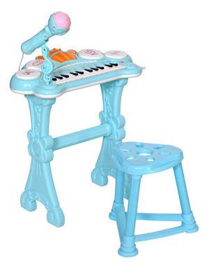 Фото - Музыкальный детский центр Пианино голубой HS0356831 коляска прогулочная everflo safari grey e 230 luxe