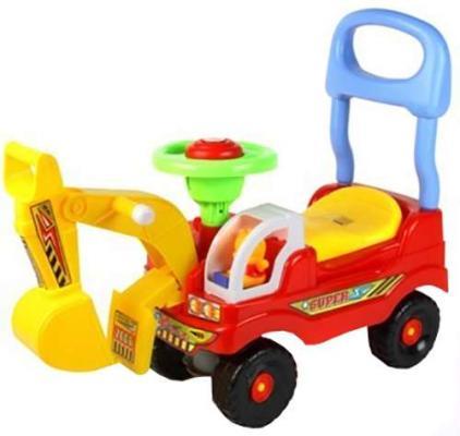 купить Интерактивная игрушка Everflo Машинка Экскаватор от 1 года красный 0567915 по цене 1580 рублей