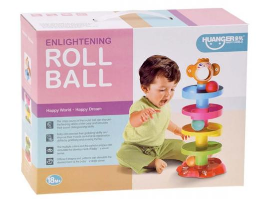 Купить Игрушка развивающая Пирамидка Обезьянка HS0363406, Everflo, Развивающие центры для малышей