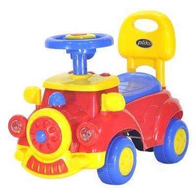 Купить Каталка-машинка Everflo Машинка желтый от 1.5 лет пластик EC-656/556, унисекс, Каталки на палочке / на шнурке