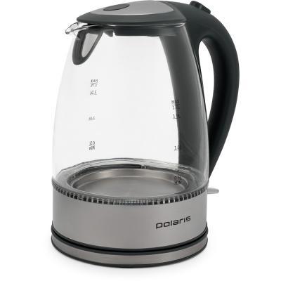 Чайник Polaris PWK 1719CGL 2200 Вт серый 1.7 л стекло мультиварка polaris pmc 0559d кофе 860 вт 5 л
