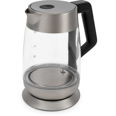 Чайник Polaris PWK 1838CGLD, 2200Вт, 1.7л, стекло, черный