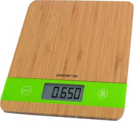 Весы кухонные Polaris PKS 0545D бамбук зелёный весы кухонные электронные polaris pks 0545d макс вес 5кг бамбук