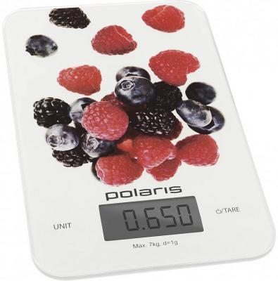 Весы кухонные Polaris PKS 0740DG белый рисунок цена и фото