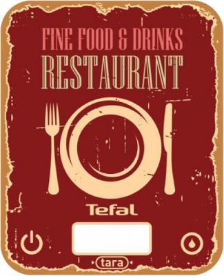 Весы кухонные Tefal BC5104V1 красный рисунок весы кухонные tefal bc5008v0