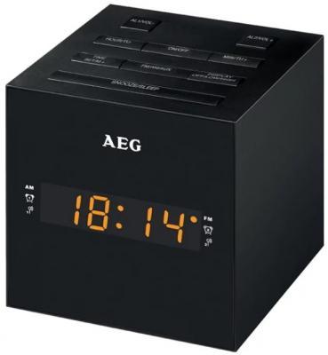 Часы с радиоприёмником AEG MRC 4150 чёрный радиочасы aeg mrc 4145 f white