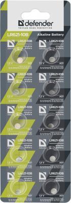 Батарейки Defender LR621-10B AG1 LR621 10 шт 56301