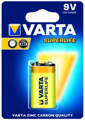 Батарейка Varta Superlife 9V 6F22 1 шт uni t ut33c 2 0 lcd digital multimeter red black 1 x 9v 6f22