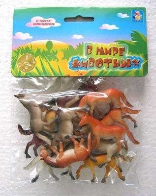Набор игрушек 1toy Набор лошадей В мире животных 5 см цена
