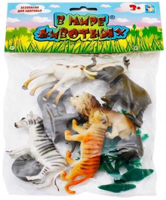 Купить 1toy В мире животных дикие жив.10шт.пакет с хед.23х18х5см., разноцветный, Игрушки для купания