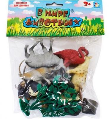 Купить 1toy В мире животных живот.африки 10шт.пакет с хед.24х18х5см., разноцветный, Игрушки для купания
