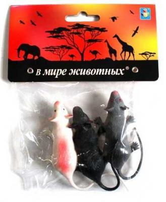 1toy В мире животных: крысы, 3 шт, пакет с хед