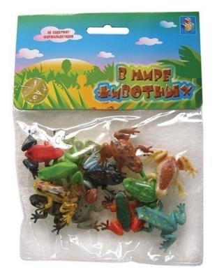 Набор игрушек 1toy Набор лягушек В мире животных 5 см цена
