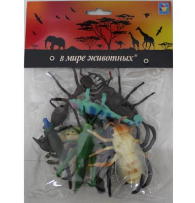 1toy В мире животных насекомые 8шт.в пак.с хедером