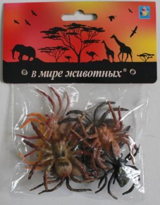Купить Резиновая игрушка для ванны 1toy В мире животных : пауки, разноцветный, Игрушки для купания