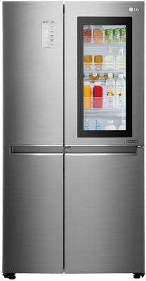 лучшая цена Холодильник Side by Side LG GC-Q247CABV серебристый