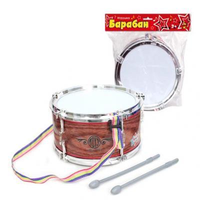 Барабан Тилибом Барабан Т80603, коричневый, Детские музыкальные инструменты  - купить со скидкой