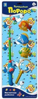 """Интерактивная игрушка 1Toy """"Магнитная рыбалка"""" - Пингвиненок Пороро от 3 лет Т59708 1toy игра рыбалка на бат 3 вида осьминоги рыбки раки 26х20см в кор"""