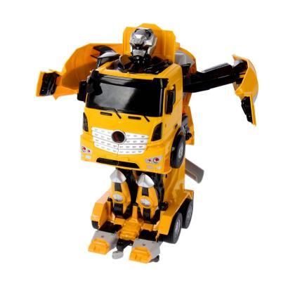 Робот-трансформер 1Toy Робот-машина - Бетономешалка на радиоуправлении Т11022 1toy робот трансформер на радиоуправлении машина цвет оранжевый