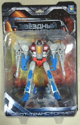 1toy Звёздный защитник, робот-трансформер, собирается в истребитель, блистер, 1toy робот трансформер звездный защитник истребитель 7 см
