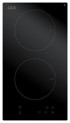Встраиваемая индукционная варочная панель LEX EVI 320 BL  3500Вт 2конф. 58х268х500мм 30см черный