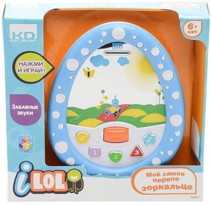 Интерактивная игрушка 1Toy KIDZ DELIGHT - МОЕ САМОЕ ПЕРВОЕ ЗЕРКАЛЬЦЕ от 6 месяцев синий Т57071 1toy kidz delight моё первое эл обуч зеркальце подсветка кор