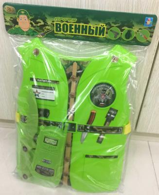 Костюм игровой 1toy Военный 3 предмета Т10489 набор костюм с жилетом военный т10489