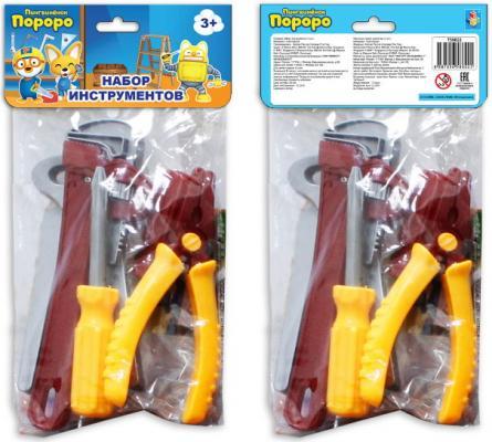 Набор инструментов 1toy Пингвиненок Пороро набор инструментов игровой 1 toy с хедером пингвиненок пороро т58824