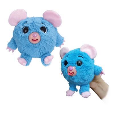 Фигурка мышка 1toy Дразнюка-Zooка - Мышка искусственный мех текстиль пластик синий 13 см Т10350