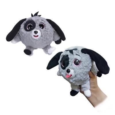 Фигурка собака 1toy Дразнюка-Zooка - Собачка искусственный мех текстиль серый 13 см Т10352