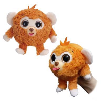 """Мягкая игрушка обезьянка 1toy """"Дразнюка-Zooка"""" - Обезьянка искусственный мех пластик текстиль оранжевый 13 см Т10348"""