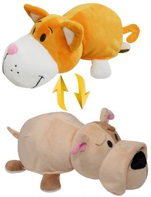 Подушка вывернушка 1toy Оранжевый кот-Бульдог плюш 35 см декоративные подушки оранжевый кот подушка интерьерная упаковка
