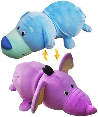 мягкие игрушки 1toy вывернушка подушка единорог щенок т12045 Подушка вывернушка 1toy Голубой Щенок-Фиолетовый Слон плюш 76 см
