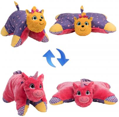 мягкие игрушки 1toy вывернушка подушка единорог щенок т12045 Подушка вывернушка 1toy Лавандовый Единорог-Щенок Йорк плюш