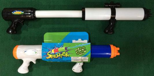 Водный бластер 1TOY Аквамания белый черный синий Т59466 цена