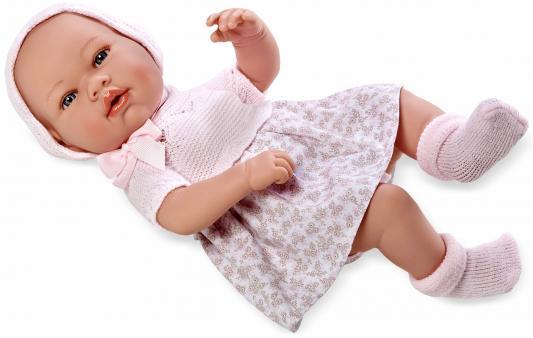 Пупс Arias Elegance в розовом платье 42 см Т11097 пупс arias 33 см блондинка в бело розовом вязаном платье кор