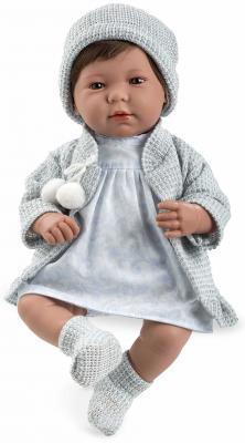 Купить Arias ELEGANCE мягк кукла 45 см., в одежед, голуб., со звук. эфф. смех при нажатии на животик (3хLR44/AG13), в кор. 26*16, 5*48 см., пластик, текстиль, Классические куклы и пупсы