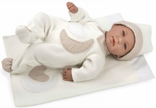 Пупс Arias Elegance с белым одеялом 45 см со звуком Т11114 пупс интерактивный arias elegance с одеялом