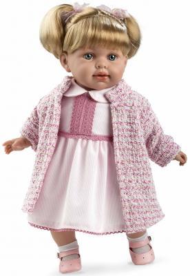 Кукла Arias Elegance в розовой одежде, с соской 42 см со звуком Т11127 кукла arias elegance elian 42 см плачущая т59786