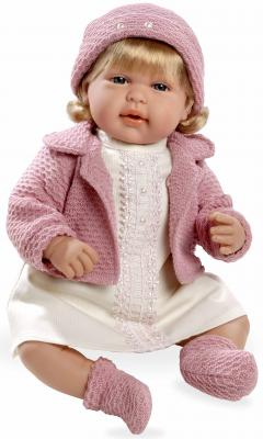 Купить Кукла Arias Elegance в розовой одежде с кристаллами Swarowski 45 см со звуком Т11135, пластик, текстиль, Классические куклы и пупсы