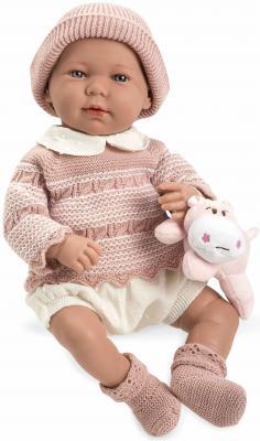 Пупс Arias Elegance в розовом свитере 45 см со звуком Т11118 пупс arias elegance 45 см т11120
