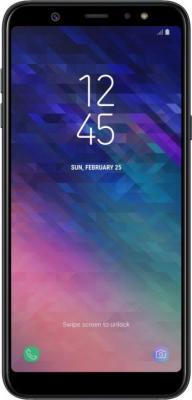 Смартфон Samsung Galaxy A6+ 2018 32 Гб черный SM-A605F планшет samsung galaxy tab a sm t350 sm t350nzkaser