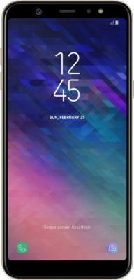 Смартфон Samsung Galaxy A6+ 2018 32 Гб золотистый SM-A605F SM-A605FZDNSER смартфон samsung sm j730fzdnser